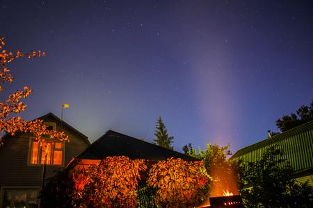 lightyear: Dark night sky with stars. Stock Photo