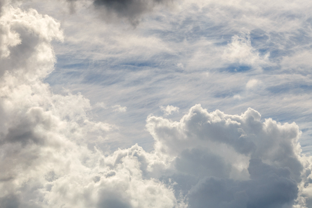 atmosphere: Blue sky with cloud closeup
