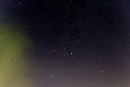Dark night sky with stars. Stock Photo