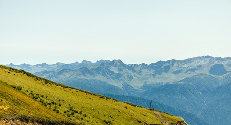 Photo of mountain landscape in summer Stock Photo