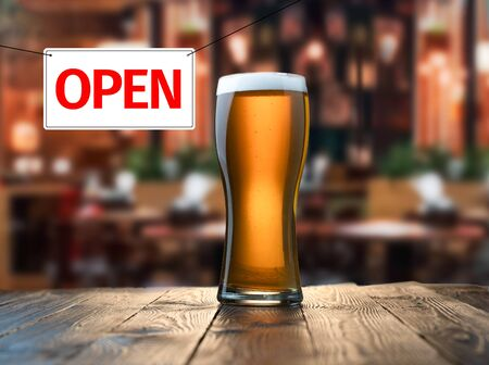 Premises of pub are open.
