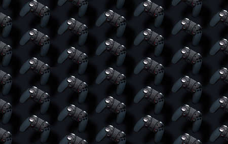Seamless pattern with joyisticks. Stockfoto