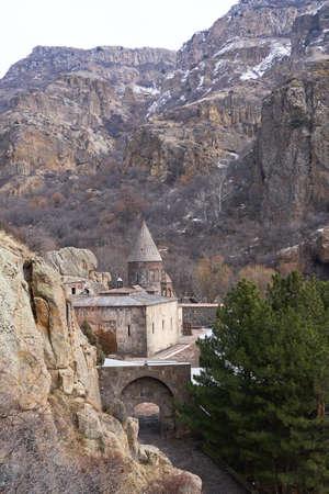 Geghard monastery is an Orthodox Christian monastery Reklamní fotografie