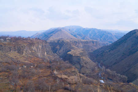 View over the valley in village Garni Reklamní fotografie