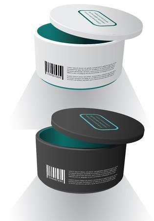 Lege verpakking doos mock-up. Vector illustratie.???