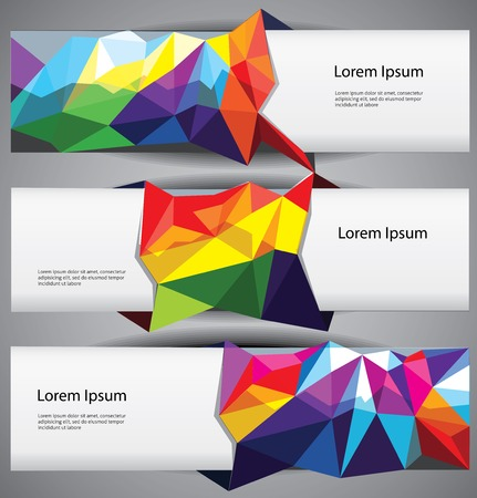 Set of web banners template. Illustration