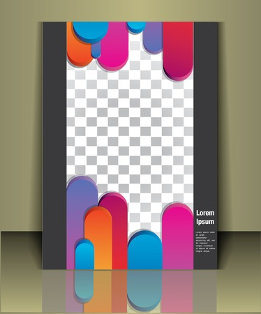 business brochure or magazine cover  template Vector