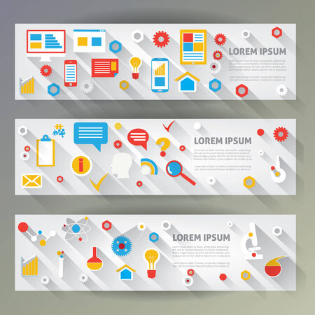 Flat design illustration infographic and icons.  Vector