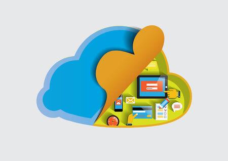 Cloud technology computing concept eps 10 vector illustration Vector