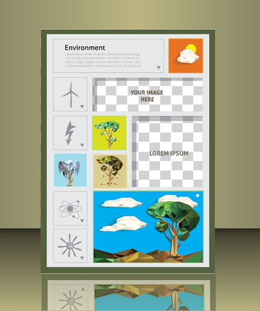 placeholder: Cover Design.  Environment, and ecology. vector illustration  image placeholder
