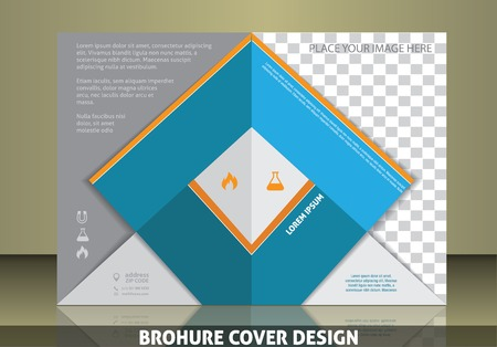 placeholder: Vector  business brochure or magazine    image placeholder