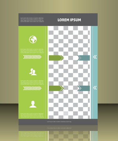 placeholder: Vector  business brochure or magazine cover  template.  image placeholder