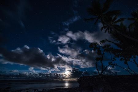 Moon River Stockfoto