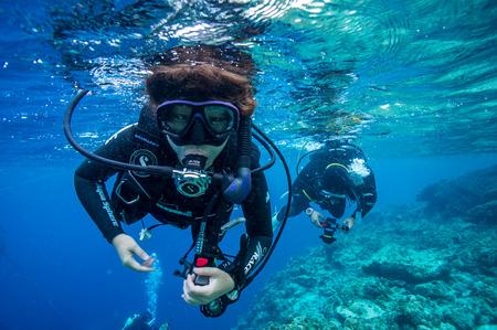 probeer duiken en voel vrijheid