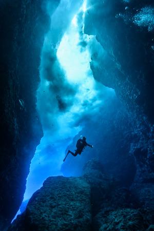 saipan cave Stock Photo