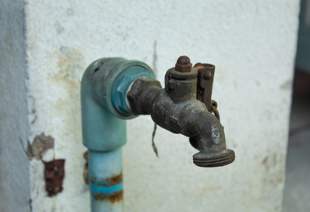 Old faucet to lack of care.