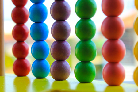 Multi-colored abacus for children