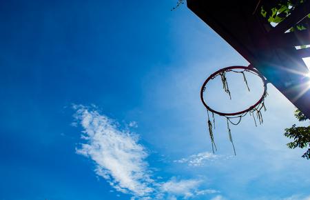 Broken basketball hoop Repair work temporarily