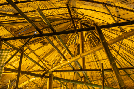 Bamboo roof roofing thatch.