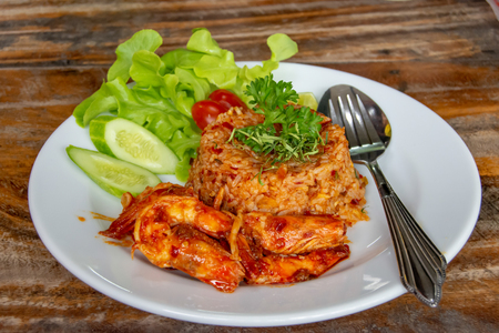 Fried rice with seafood ,spicy food Thai style.