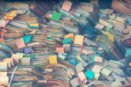 Colorful Dossier made of paper Stackable lot , Disorderly.
