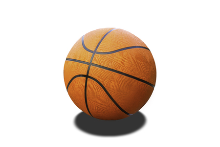 Basketball on a white background with clipping path. Zdjęcie Seryjne