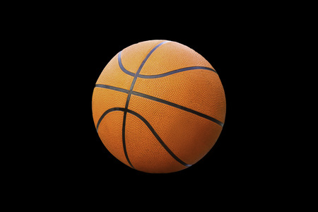 Basketball on a black background with clipping path. 스톡 콘텐츠