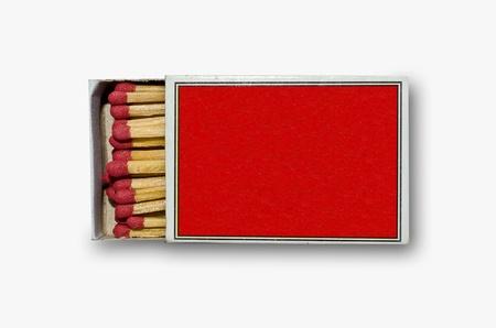 Open red match box photo