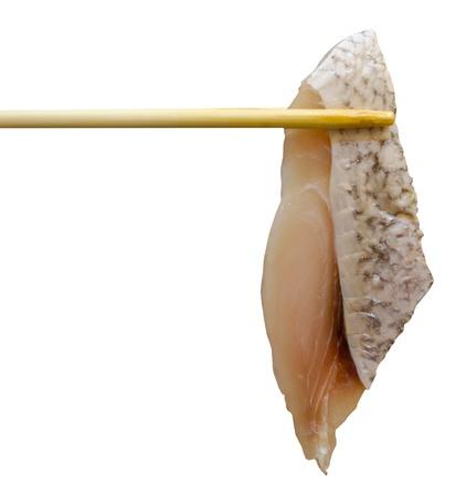A piece of fish in Sukiyaki meal Stock Photo - 13159356