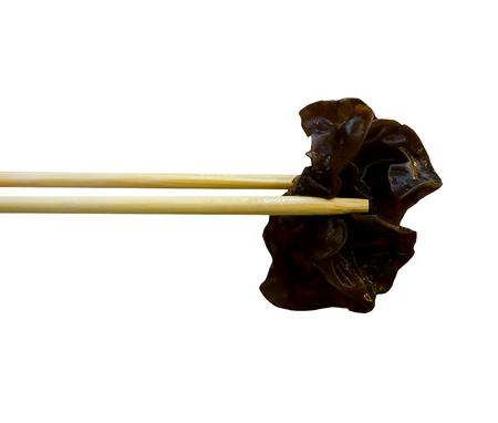 nip: A piece of fungus in Sukiyaki meal