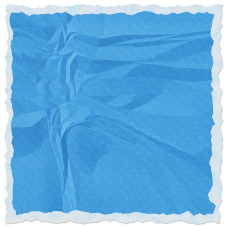 Blue torn paper isolate on white background photo