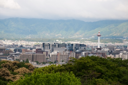 dera: View of Kyoto from kiyomizu dera, Japan