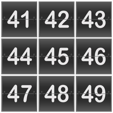Scoreboard Numbers flipper photo