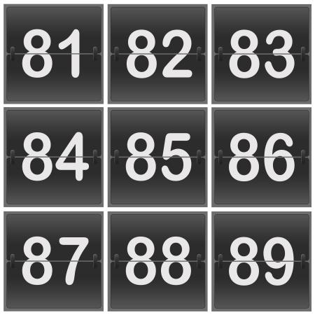 7 8: Scoreboard Numbers flipper