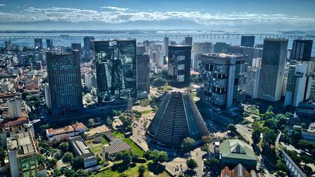 Aerial view Rio de Janeiro City and Ocean