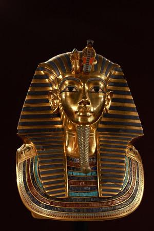 Front shot of king tut's death mask Archivio Fotografico