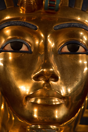 up close shot of King Tut
