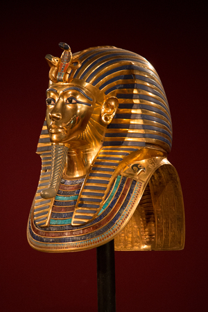 Side view of King Tut