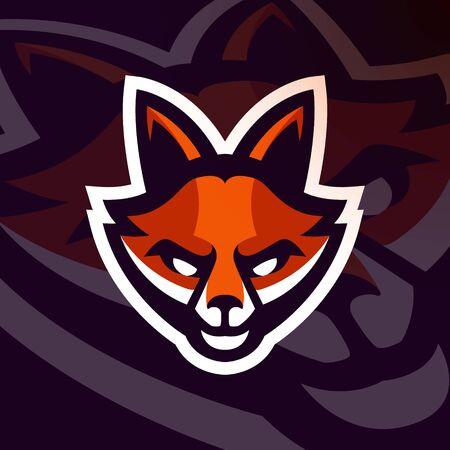 Fox esport gaming mascot emblem Premium Vector
