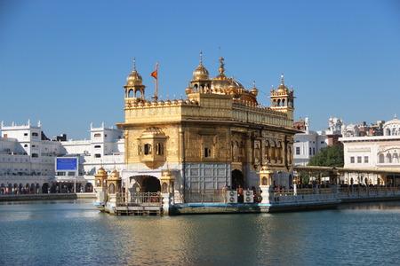 temple tank: Golden Temple in Amritsar. India, Punjab. winter Stock Photo