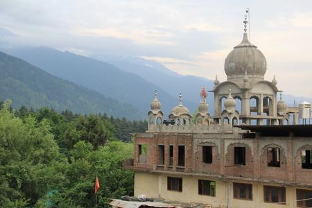 sikh: Sikh temple under construction. New temple Gurudwara