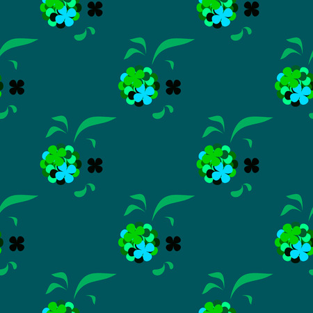 fourleaf: the composition of the petals clover for luck Illustration