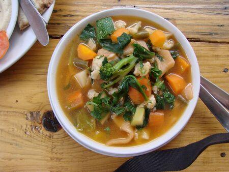Tibetan soup cooked in Dharamsala, Tupka, Tukpa