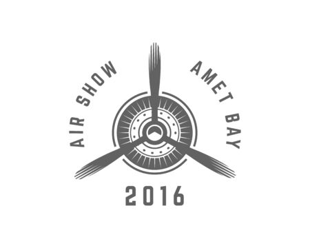 aeroplane logo vector Illustration