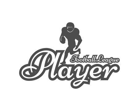 american football logo Ilustracja