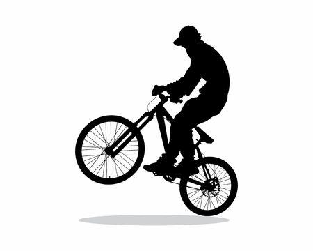 bike - vector silhouette Ilustracja