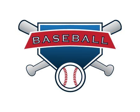 Baseball logo vector Ilustracja