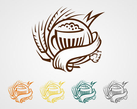 beer logo Ilustracja