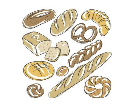 bread handdrawn vector