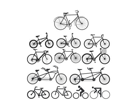 bycycle logo icon silhouette Stock Illustratie